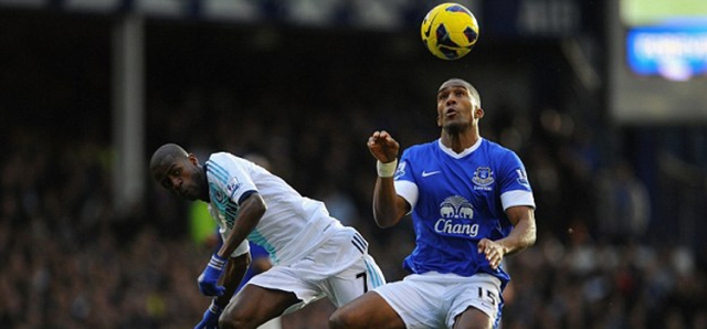 Distin against Chelsea
